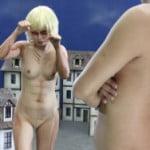 人気アニメ「進撃の巨人」の女型の巨人がオッパイ丸出しで戦う実写化AVwww