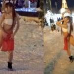 札幌・大通公園にふんどし姿の女の子が出現でカップルドン引き
