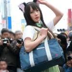 日本橋ストフェス2014美少女レイヤーがToLOVEる古手川唯の猫耳コスプレでパンチラ