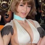 AnimeJapan2014で巨乳グラドル星名美津紀がブレイドアンドソウルのハミ乳キャラコスプレ