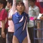全日本体操女子で可愛い永井美津穂がむちむち食い込みレオタードでエロい尻もち