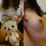 22歳処女がリラックマと一緒にCカップおっぱいの裸エロ自撮り