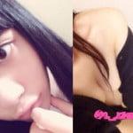 ぱっつん前髪の美少女現役JK18才処女がTwitter裏垢でノーブラおっぱいポロリ自撮り
