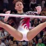 ロンドンオリンピック女子体操予選の白レオタードスジ食い込みプリ尻を堪能する