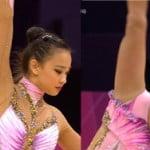 ロンドン五輪で新体操の韓国美少女ソン・ヨンジェがレオタード股間おっぴろげでたまらない