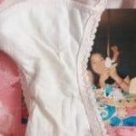 JKの妹が穿いて脱ぎ捨てたクロッチ汚パンツを顔写真と一緒に写メうp