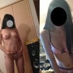 18歳彼女の制服脱いだ後のロリ下着美乳オッパイ素人エロ写メ撮りをうp