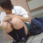 女子高生の太ももにすりすりしたくなる街撮り画像