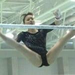 NHKで放送された体操・田中理恵の黒レオタード股おっぴろげがエロいと話題に