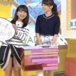 朝の番組はやドキ!で気象予報士福岡良子のスカートめくれパンツ見える放送事故