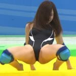 ロンハー水泳で有村架純の姉の有村藍里が競泳水着でエロいM字開脚