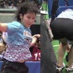 全日本卓球選手権で平野美宇のパンツが浮き出てパン線晒す放送事故