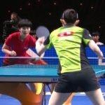 卓球チームW杯、北朝鮮戦で現役JK早田ひながスカート透けパンチラ