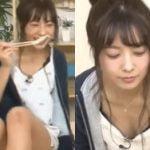 乃木坂46斉藤優里がAbemaTVで短パン隙間からパンチラ胸チラ披露