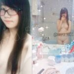 香港在住22歳の眼鏡オタク女子が完全顔出しでおっぱい全裸ヌード自撮り