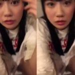 AKB48服部有菜がインスタライブでショーパン隙間からマン毛チラ疑惑