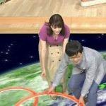 テレ朝の巨乳女子アナ三谷紬が放送で谷間おっぱいを見せつける