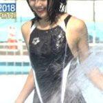 ロンハー水泳2018で競泳水着姿の藤田ニコルが股間ビショ濡れでエロすぎる