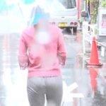 ZIP!で森遥香アナが土砂降りでパンティラインが透けてしまう放送事故
