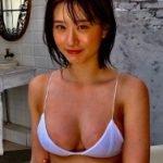 現役JK18歳NMB48上西怜の白水着オフショットで乳首が透ける