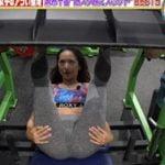筋肉番組でチャンピオンミョン選手が股間丸見え種付けマウントポーズ