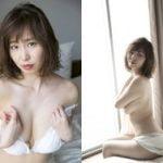 元秋田朝日放送アナウンサー塩地美澄(37)が上半身半裸でGカップ巨乳セミヌード晒す