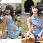 インスタ女子の宇津木あゆみさん、代々木公園の花見でパンツ盗撮されていた