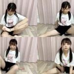 STU48研究生の田口玲佳が筋トレ配信中に短パン隙間ハミパン生パンチラ