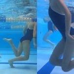 プールで泳ぐえっちなスク水集団が水中で盗撮されてしまう