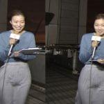 めざましお天気キャスター阿部華也子のスカートが強風で股間透け放送事故