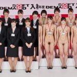 2021年度のSOD入社式で早速入社したばかりの女子社員が裸にされる